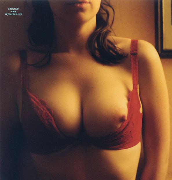 Seductive Nipple - Brunette Hair , Gorgeous Nipple, Nipple Slip, One Erect Nipple, Breasts Pushed Together, Aroused Nipple, Red Demi Bra, Nipple Peeking Out, Nip Slip, Medium Round Breasts, Brunette With One Nipple Showing, Erect Nipple Peeping Out, Red Applique Bra, Pointed Nipple