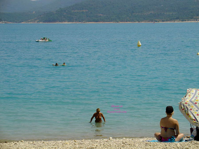 Lac (lake) St. Croix Provance France , France Is Grate ! Weather, Landscape, Ladies, Food, Affordable. <br />Sorry For The Distance (only 4X Zoom).