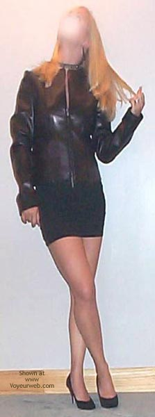 Pic #1 Kalynn In Black Leather