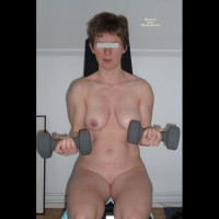 Dutch Girl - Workout Part 1 , DG, 40 Yo Wife And Mother. Doing Her Daily Workout In The Hotel Gym.