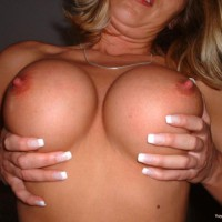 Tit Holding - Large Breasts, Titties, Topless , Tit Holding, Errect Nipples, Large Breasts, Topless, Handbra, Pushed Up Tits