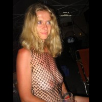Fishnet Top - Blonde Hair, Top , Fishnet Top, Blonde Hair, Provocative Top, Nipple Peek A Boo