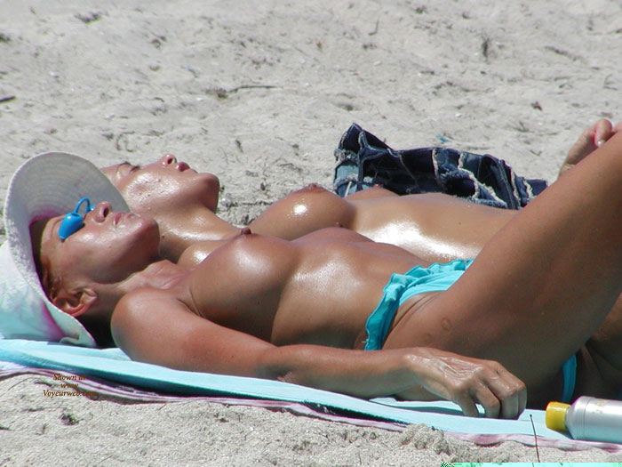 Blue Monokini - Big Tits, Large Breasts, Perky Tits, Topless , Perky Nipples, Two Girls, Tan Body, White Hat, Two At A Time, Large Tits, Full Round Breasts, Topless Bikini