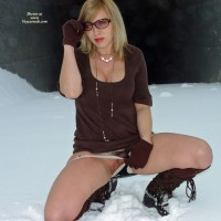 Ice Pussy - Flashing, Sunglasses , Naked Outside, Flashing Pussy Outdoors, Kneeling In Snow, Brown Dress, Pussy Flash In Snow, Jewellery And Sunglasses, Pierced Pussy, The Sqat, Outdoor In Snow