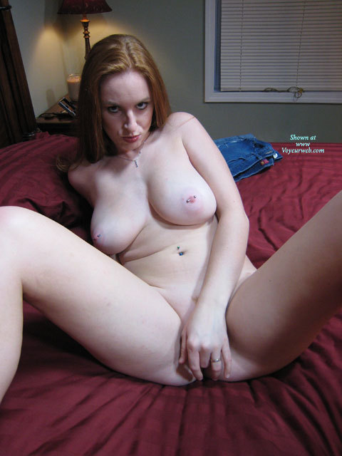 MILF Fingering Pussy - Big Tits, Large Breasts, Milf, Natural Tits, Pierced Nipples , Girl On Crimson Bed Sheets, Large Natural Breasts, Pussy Rub, Naked In The Bedroom, Lots Of Piercings, Pussy With Fingers