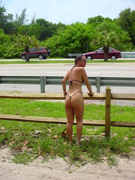 Pic #1 Frisky  Vacation With The Thong Guy