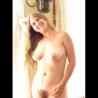 Long Blonde Hair - Long Hair , Long Blonde Hair, Unshaven Pussy, Smiley Face, Large Areola, Medium Sized Breasts
