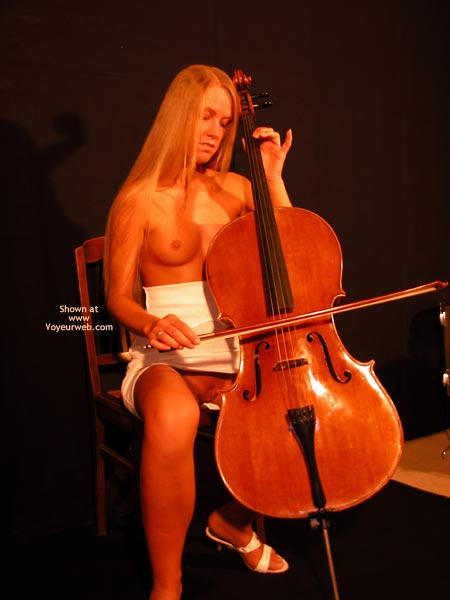 Pic #1 Female Cello Player Plays The Solo