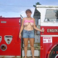 Spoiled Brat~ Sexy In Car(fire Truck) , Anybody Can Do A Car. How About A Fire Truck. Hey All You Brave Firemen.