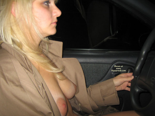 Women driving topless big breast, franchine from chubby loving