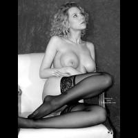 Blond - Blonde Hair, Hard Nipple , Blond, Hard Nipple, Legs, Black And White, Large Breast