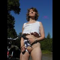 Chrissie On Bike