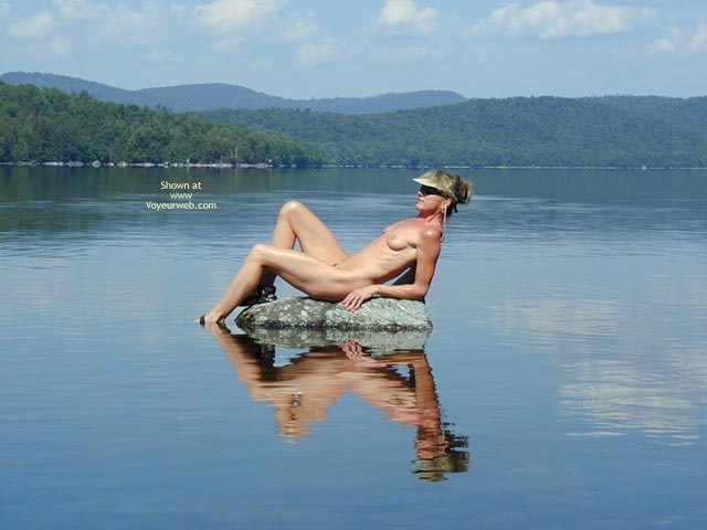 Sitting On Rock - Milf, Nude In Nature, Water , Sitting On Rock, Naked At A Lake, Nude Reclining In Nature, Outdoors In Water, Milf, Nude At Lake