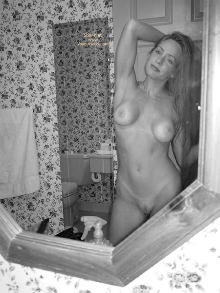 Long Blonde Hair - Long Hair, Shaved Pussy , Long Blonde Hair, Black And White Photo In The Mirror, Shaved Pussy, Tan Lines