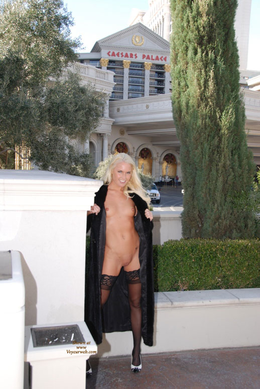 Flashing At The Casino - Blonde Hair, Flashing, Shaved Pussy, Naked Girl, Nude Amateur , Fur Coat, Bleached Hair, Frontal Nude, Skinny Legs, Great Stockings, Standing Nude Under Coat, Nude Under Coat, Small Titties, Naked Outdoors, Outside Of Casino, Black Lace Top Hold Up Stockings, Quick Flash, Nude In Vegas, Las Vegas, Black And White Peep Toe Shoes, Las Vegas, Nv, Platinum Blond Hair