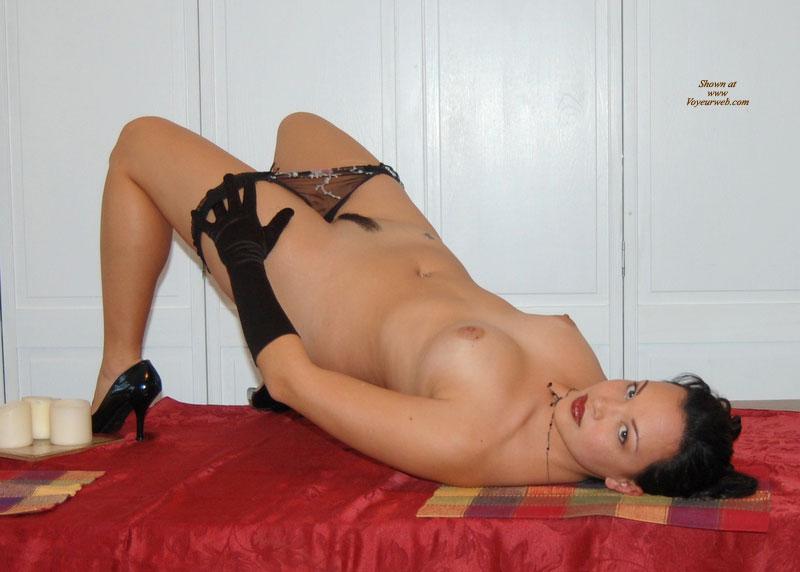 Nude Girl Lying On A Table - February, 2008 - Voyeur Web -6157