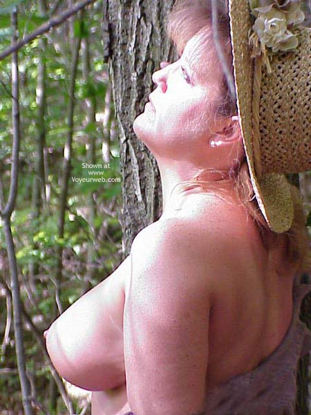 Pic #1 Sara Getting Naughty in The Woods