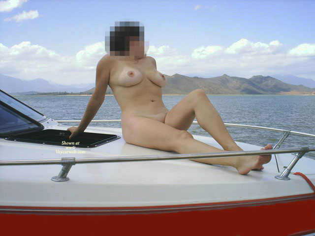 Em At The Lake , Hi Everybody, Thanks For All The Nice Comments A While Ago. This Pics Was Taken At The Lake And Just See How Much Fun Boating Can Be If You Do It Naked.