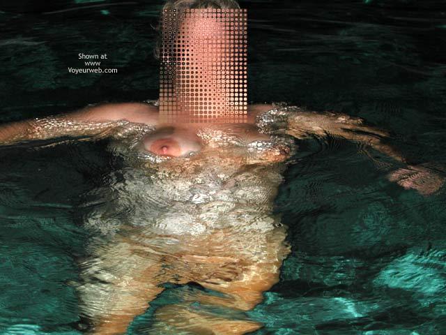 Pic #1 *NT Mrs Vernie in Pool at Night