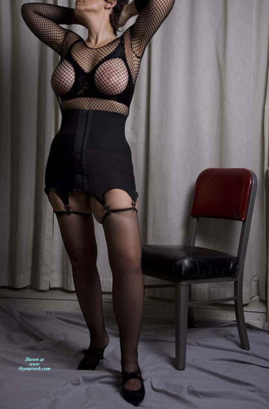 Zhanna's Black Fishnets , Zhanna Likes Fishnet, On Top And Bottom. See Parts Two And Three In Redclouds.