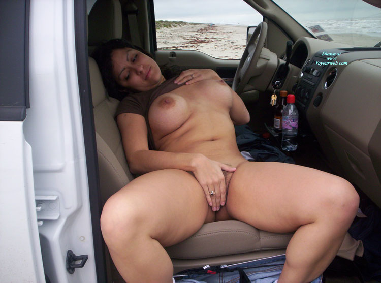 Nude Milf - Black Hair, Dark Hair, Large Breasts, Milf, Naked Girl, Nude Amateur , Chunky Thighs, Black Panties And Jeans Pulled Down, No Panties, Suv Masturbation, Girl & Car, Bottomless Model In Suv