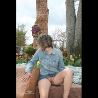 Flashing Pussy Outdoors - Blonde Hair, Flashing, Landing Strip, Trimmed Pussy, Pussy Flash, Wife Pussy , Up-skirt Outside, Blue Denim Jacket, Pantyless Upskirt, Blue Denim Mini-skirt, Flashing In A Park, Short Blonde Hair, Blue Jean Blouse,blue Jean Skirt, No Panties