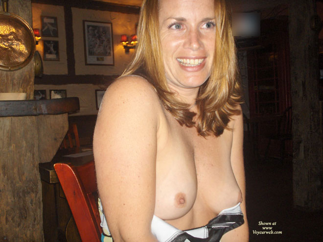 Topless Milf - Blonde Hair, Blue Eyes, Erect Nipples, Flashing, Milf, Small Tits, Topless , Big Smile, Dirty Blonde, Indoor Tits, Small, Soft And Peeking Breasts, Freckles, Natural Breasts, Topless Wife, Flashing Tits