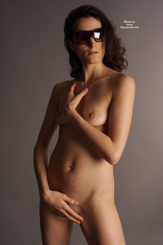Nude Girlfriend With Dark Glasses Standing - Small Breasts, Naked Girl, Nude Amateur, Sexy Girlfriend , Sleek, Slender, Sensual Torso, Standing, Hiding Pussy, Tiny Nipples, Posing Nude, Breasts And Belly Exposed, Elegant, Standing Frontal Pose, Long And Slender Body, Cold Nipples