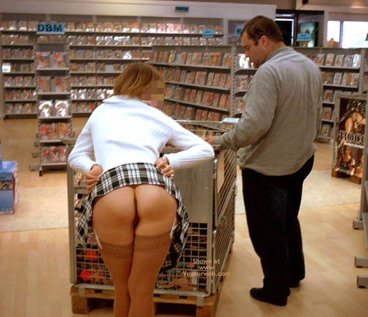 Everything On Sale - Bend Over, No Panties , Everything On Sale, Upskirt Bent Over, No Panties, Clueless Man