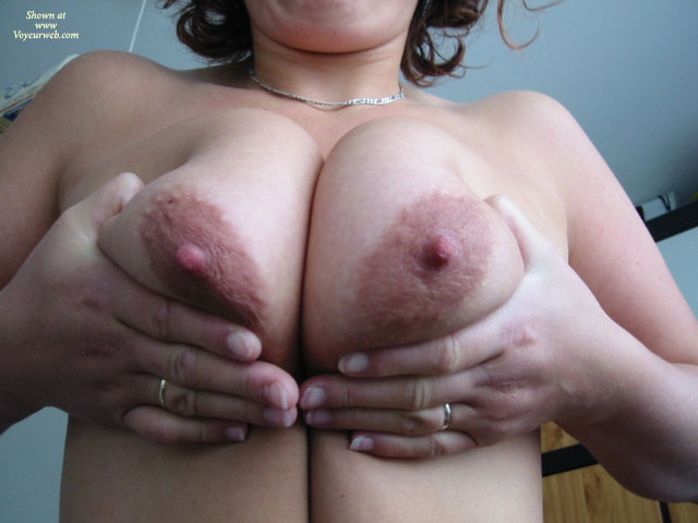 Milf Pressing Her Tits Together - Milf , Two Big Tities, Presenting Her Tits, Large Oblong Aerolas, Large Tits, Closeup Squeezed Tits, Amateur Tits, Squeezed Tits, Squeezing Bigguns, Squeezing Her Tits Together, Curly Borwn Hair