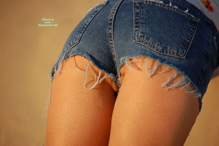 Goosebumped Thighs - Sexy Ass , Pussy Lips Showing, Cameltoes, Very Short Daisy Dukes, Short Shorts, Tight Shorts With Hint Of Camel Toe, Blue Denim Shorts, Nice Ass In Daisy Dukes Shorts, Pussy Peek Through Shorts