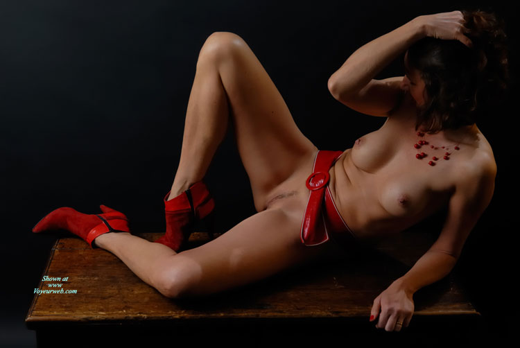 Naked Brunette With Medium Boobs And Landing Strip On Desk - Brunette Hair, Dark Hair, Erect Nipples, Heels, Landing Strip, Naked Girl, Nude Amateur , Red Ankle Boots, Red Nailpolish, Red Suede High Heels, Reclining Nude With Dark Hair, Artistic On Table, Nude Girl On A Desk, Naked With Red Boots And Belt, Red Belt, Medium Sized Boobs With Erected Nipples, Red Belt, Red Shoes, Red Necklace, Sexy Body