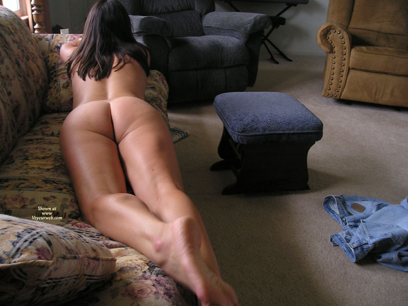 "Missouri Farmwife-Still Naked On The Couch , Hi Again!<br />Wow......was So Overwhelmed By The Response To My Post A Few Days Ago, I Thought I'd Send In A Few More Pics. <br />So Many Sweet Comments! You Guys Definitely Know How To Make A ""middle Aged"" Gal Feel Good!<br />Being Home Most Of The Day (and Naked Most Of The Time), Hubby Has Lots Of Opportunities To Take Pics When He Comes In At Lunch, Especially When He Catches Me Masturbating On The Couch!<br />Hey, A Girl Can't Work ALL The Time! Of Course, After Lunch Dessert Is The Best Part Of The Day For Both Of Us...<br />Now I'm Just Eager For Warmer Weather To Get Here So I Don't Have To Cover Up When I Take His Lunch Out To Him....you Should See The Look On His Face When I Pull The Pickup Up To His Tractor Or Combine With Nothing On But My Flipflops!<br />Can't Wait!"