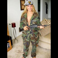 Pic #1 Nikki Joins The Army?