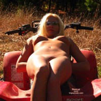 Outdoor Lady , Outdoor Lady, Looking At You, Nipples In The Sun Light, Nude Upshout On Atv, Sunlit Tits