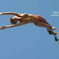 Nude Bungee - Perfect Tits, Topless, Naked Girl, Nude Amateur , Red Bikini Bottoms, Navel Piercing, Topless Bungee Jumper, Topless On Bungee, Midair, Bungee Cord, Bungee Jumping, Topless Bungee, Nude Bungee Jumping, Tits Aflying, Topless Bungee Jump, Booby Jumping, Red Thong