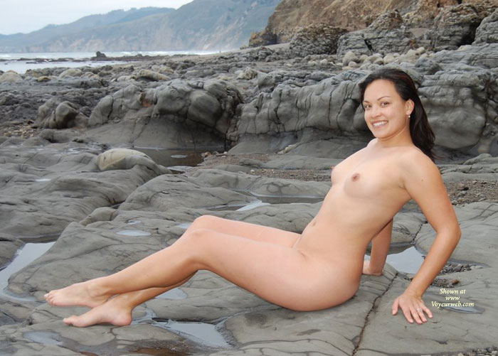 Nude Milf - Black Hair, Dark Hair, Erect Nipples, Milf, Nude Outdoors, Naked Girl, Nude Amateur , Outdoor Nude Profile, Big Smile, Smiling Into Cam, Smiling, Total Nude, Nude On The Rocks At Low Tide, Nude At Beach, Dark Haired, Muscular Legs