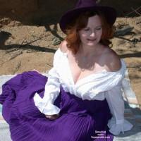 Buxomgirl38e in a purple corset!