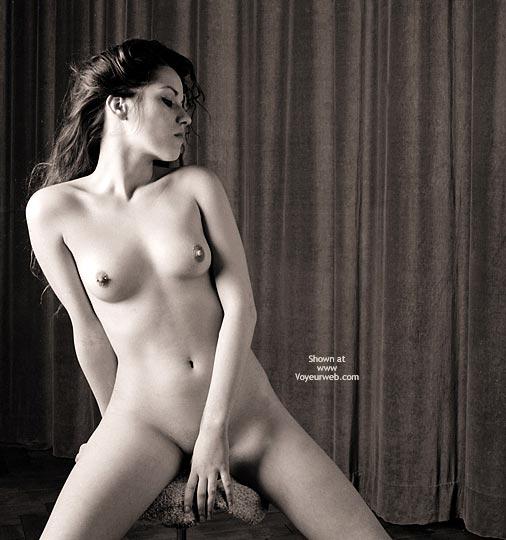 Long Dark Hair - Black And White, Dark Hair, Erect Nipples, Large Breasts, Pierced Nipples , Long Dark Hair, Pierced Nipple, Black And White, Glamour, Erect Nipples, Firm Breasts, Nipplicious