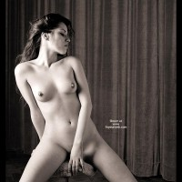 Long Dark Hair - Black And White, Dark Hair, Erect Nipples, Large Breasts, Pierced Nipples , Long Dark Hair, Pierced Nipple, Black And White, Glamour, Erect Nipples, Firm Breasts, Nipplicious