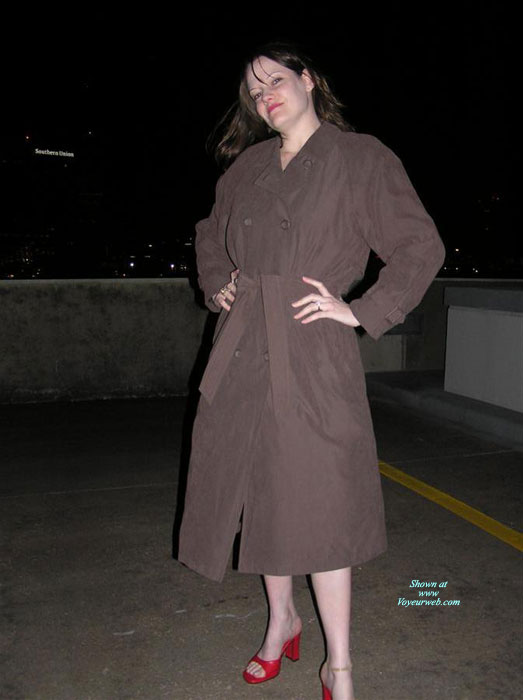 Leggy Elena Outdoors , We Decided To Get A Little Risky And Took Pics On Top Of A Parking Garage In Our City.  We Started Outside, But We Had To Keep Going Back Into The Stairwell Because It Was Soooo Cold.  You Can See It On My Face.  The Funniest Thing That Happened Was When We Saw A Helicopter Approaching From The Distance.  My Hubby Thought It Was Coming Right Over Us, But I Ignored Him.  Right When It Got Overhead, It Spotlighted Me Fully Nude.  They Kept On Going Though.  Guess They Didn't See Much Or Didn't Like What They Saw!  Enjoy!