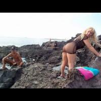 See Thru Dress On Swingers Beach