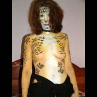 Painted , Painted, Leopard Girl, Painting Tits, Full Body Art