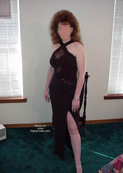 Pic #1 Redhead Housewife Formal Dress