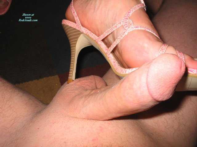 Pic #1New Shoes Rubbing My Cock