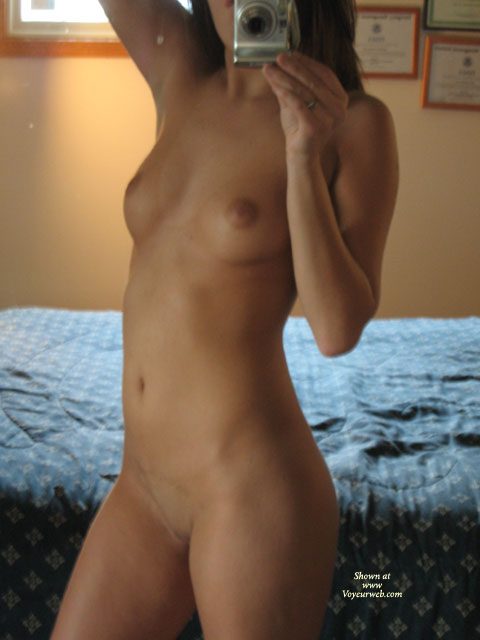 Indian girl taking a photo of herself nude