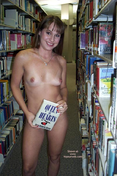 Flashing Indoors - Indoors , Flashing Indoors, Library Flash, Girl Fully Nude In A Bookstore
