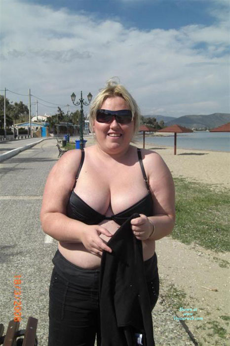 Pic #1Greek Anna Topless Outdoors