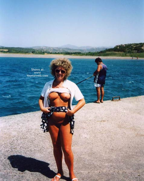 Pic #1 Connie On Holiday And Flashing