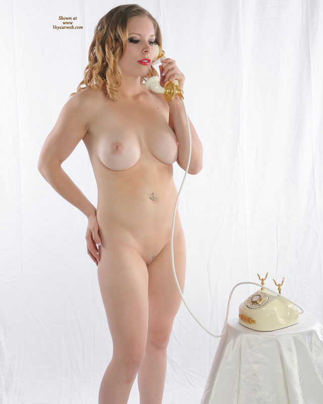 Naked On The Phone - Blonde Hair, Pale Skin, Red Hair, Shaved Pussy, Naked Girl, Nude Amateur , Pale Skin, Pink Nipples, Full Frontal Nude, Blonde Curly Hair, Slim Hips, Red Lips, Round Breasts, Naked Studio Shot